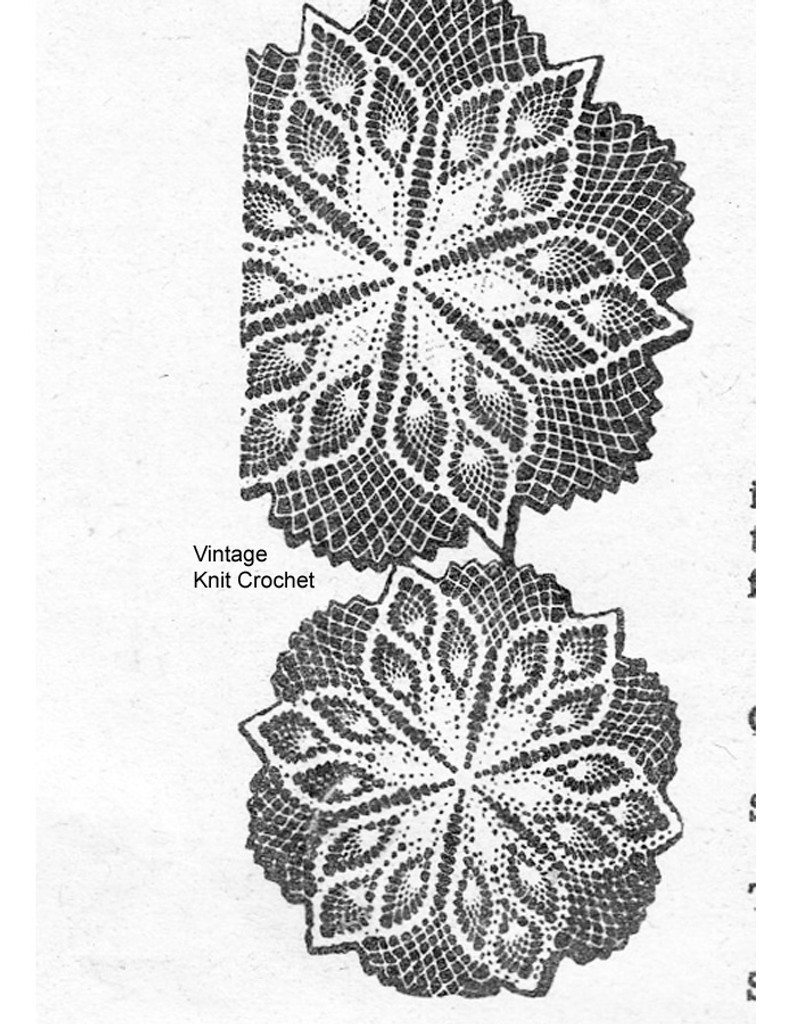 medium crochet pineapple doilies pattern, Laura wheeler 589