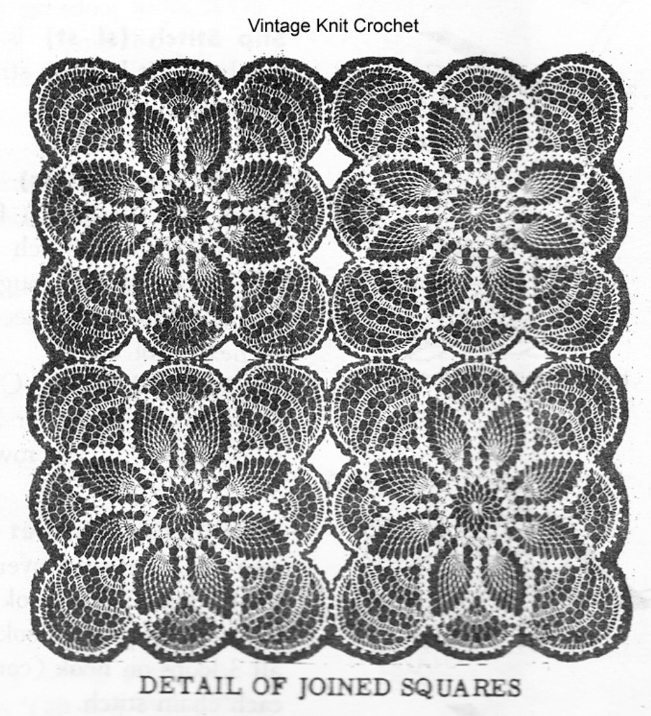 Pineapple crochet cloth pattern, Mail Order Design 530