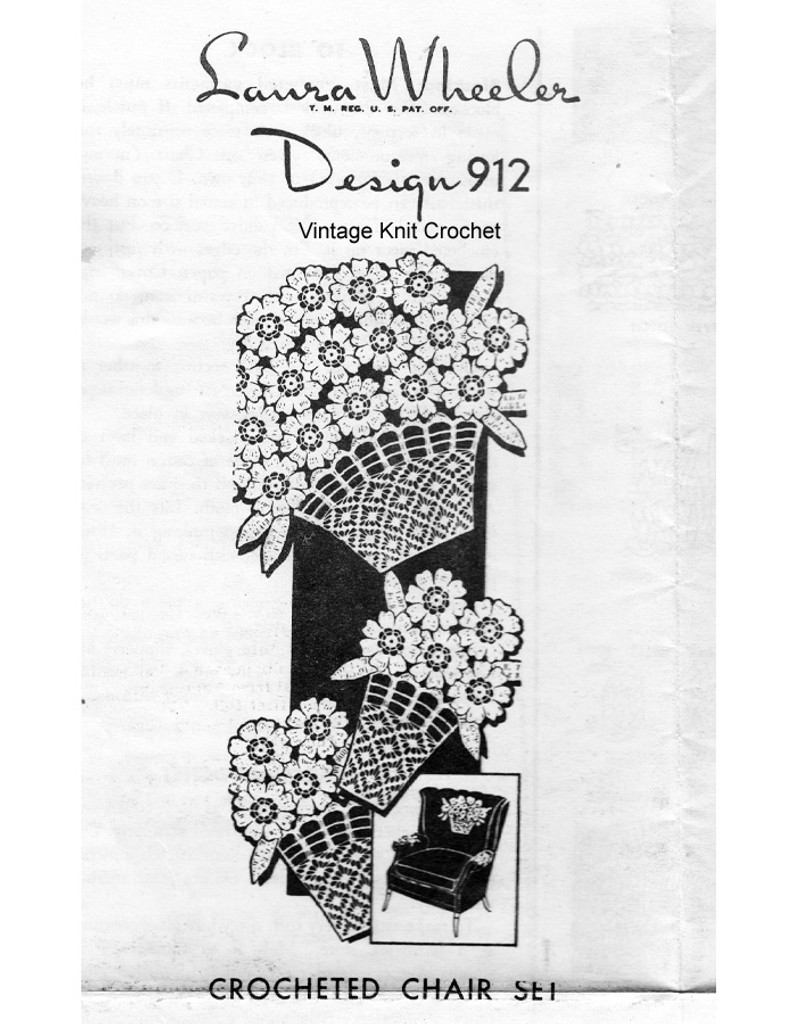 Daisy Doily Chair Doily Pattern, Mail Order 912