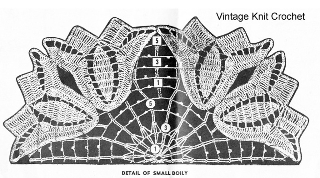 Small Tulip Doily Illustration for Mail Order 7204