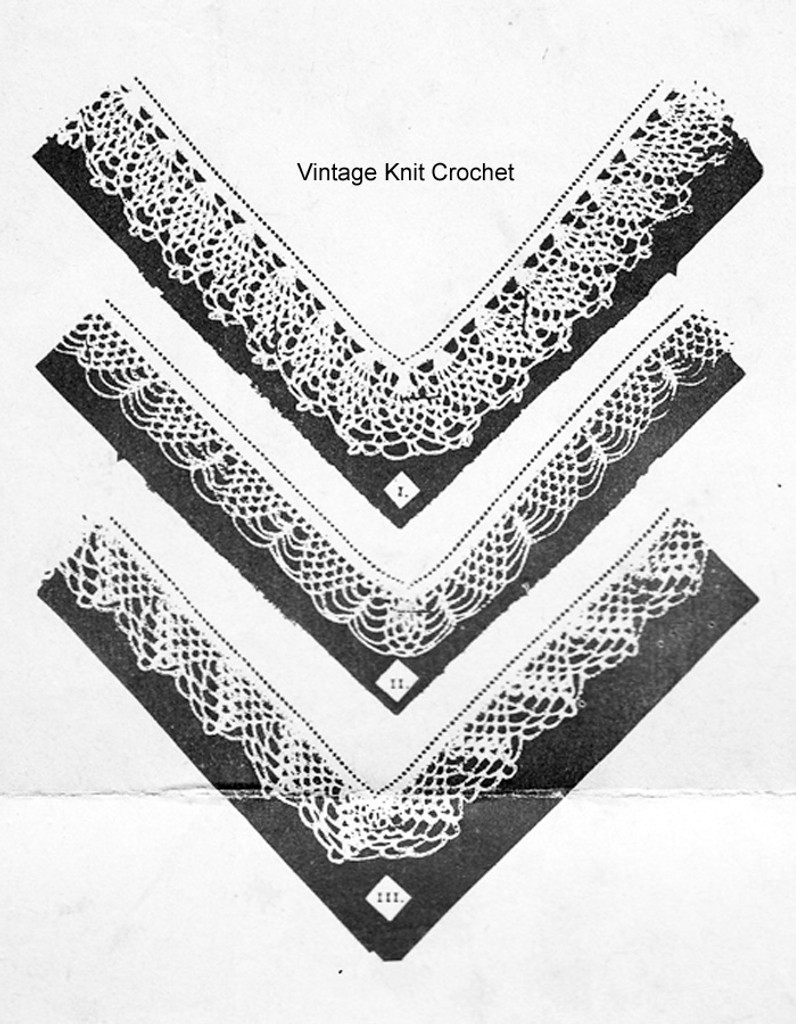 Pineapple Crocheted Edgings Pattern, Martha Madison 886