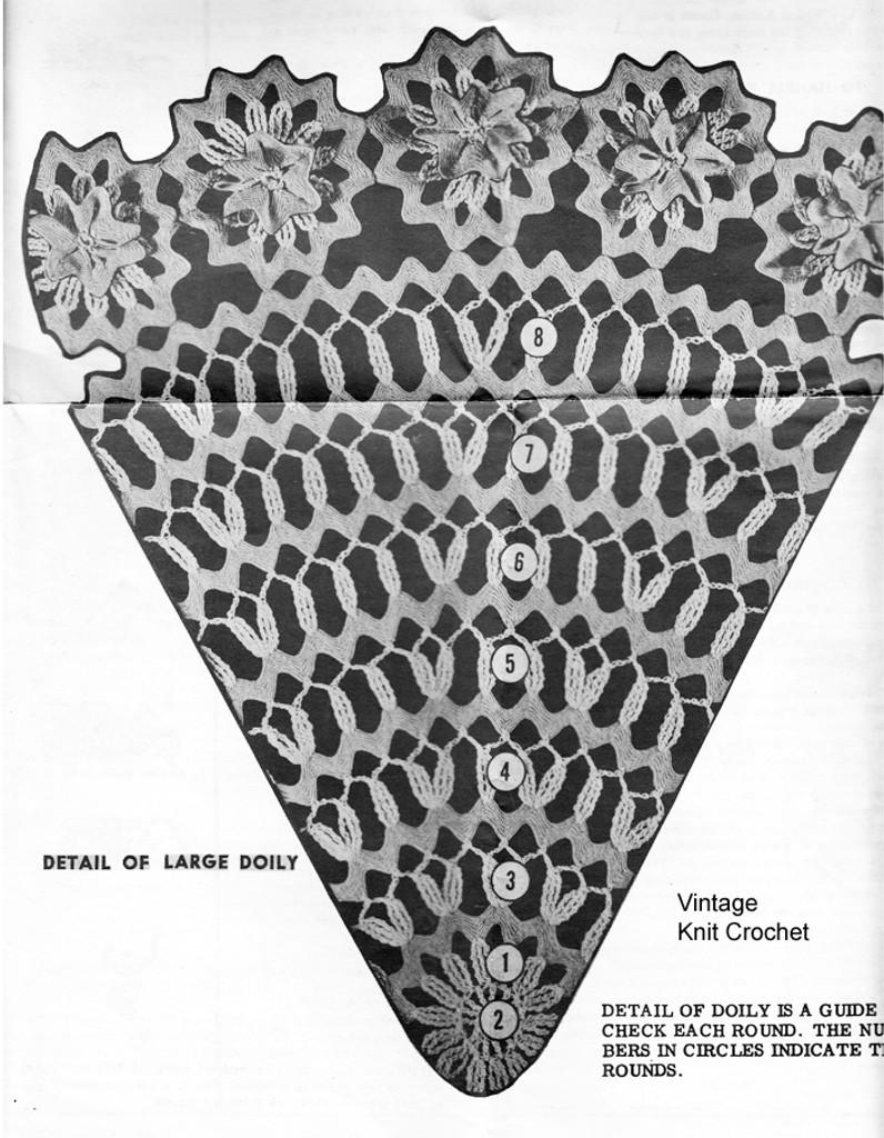Medallion Doily Crochet Pattern Illustration, Alice Brooks 7238