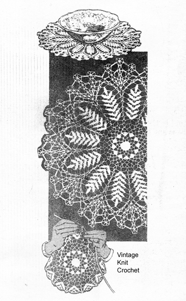 Mail Order Fern Crocheted Doilies Pattern, Alice Brooks 7488