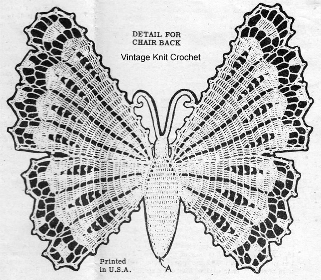 Butterfly Crochet Pattern Detail, Laura Wheeler 382