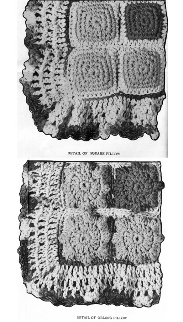 Crochet Pillows Pattern Detail for Design 745