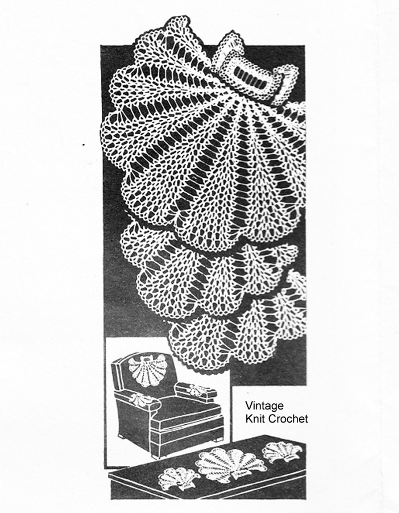 Mail order Crochet Shell Doilies Pattern No 3096