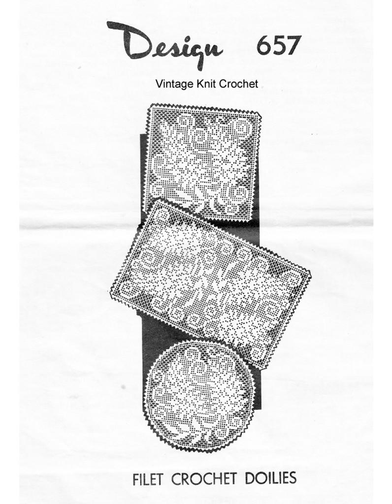 Filet Crochet Wisteria Doily Pattern, Laura Wheeler 657