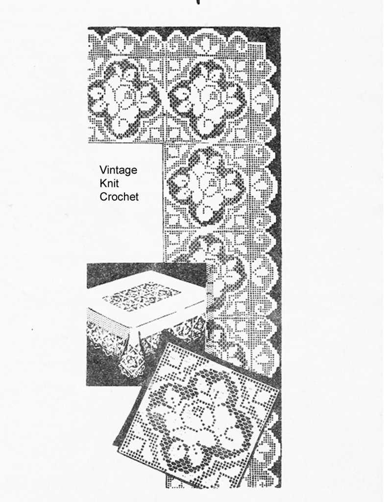 Rose Filet Crochet Square Pattern, Laura Wheeler 637