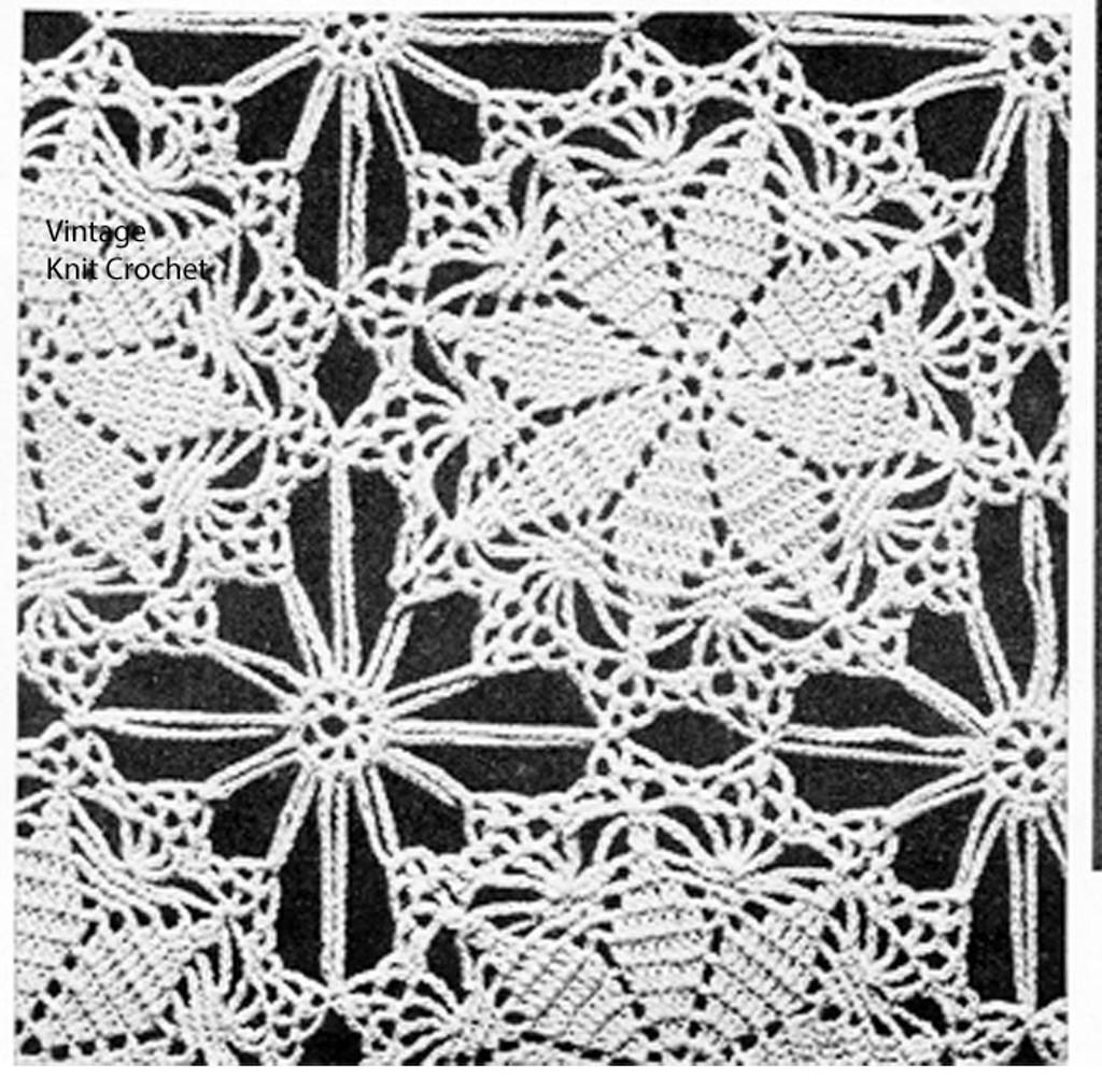 Vintage Lucky Star Crocheted Medallion Pattern