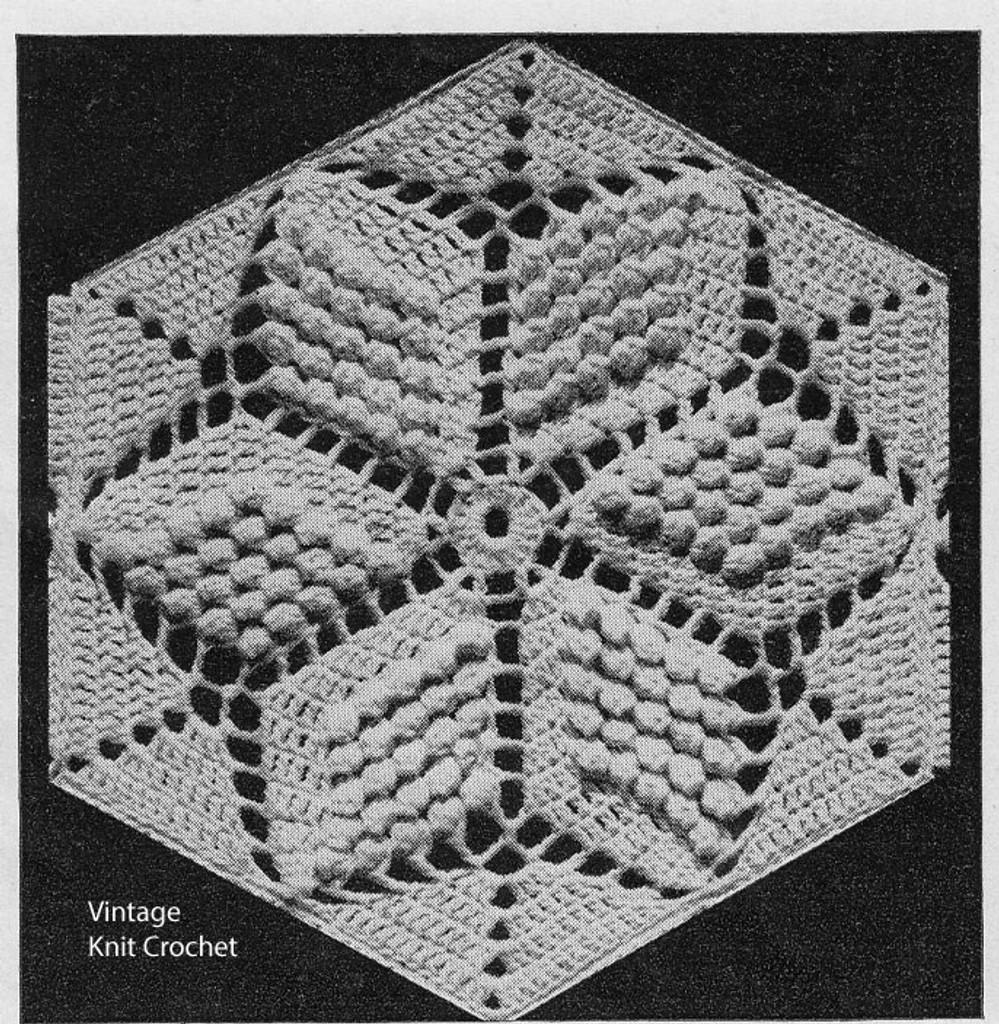 Crochet Star Medallion Pattern in Popcorn stitch