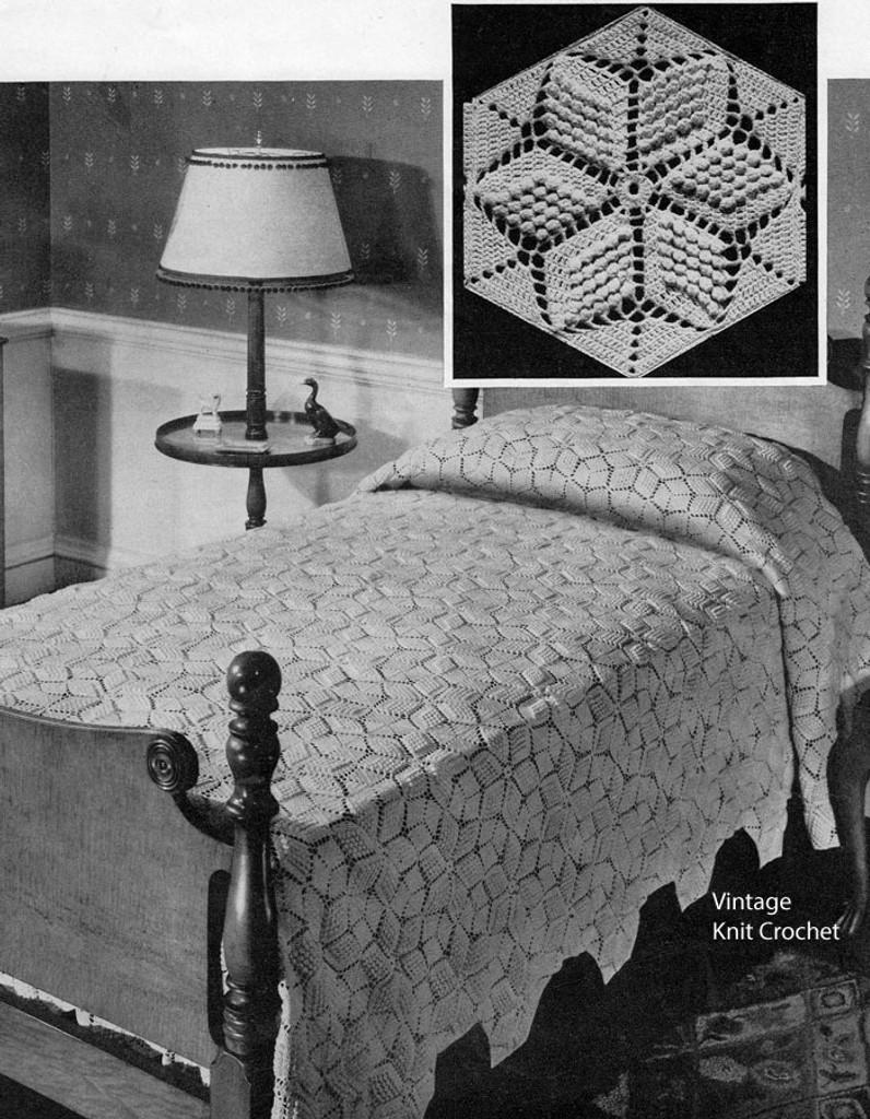Popcorn Crochet Star Medallion Pattern