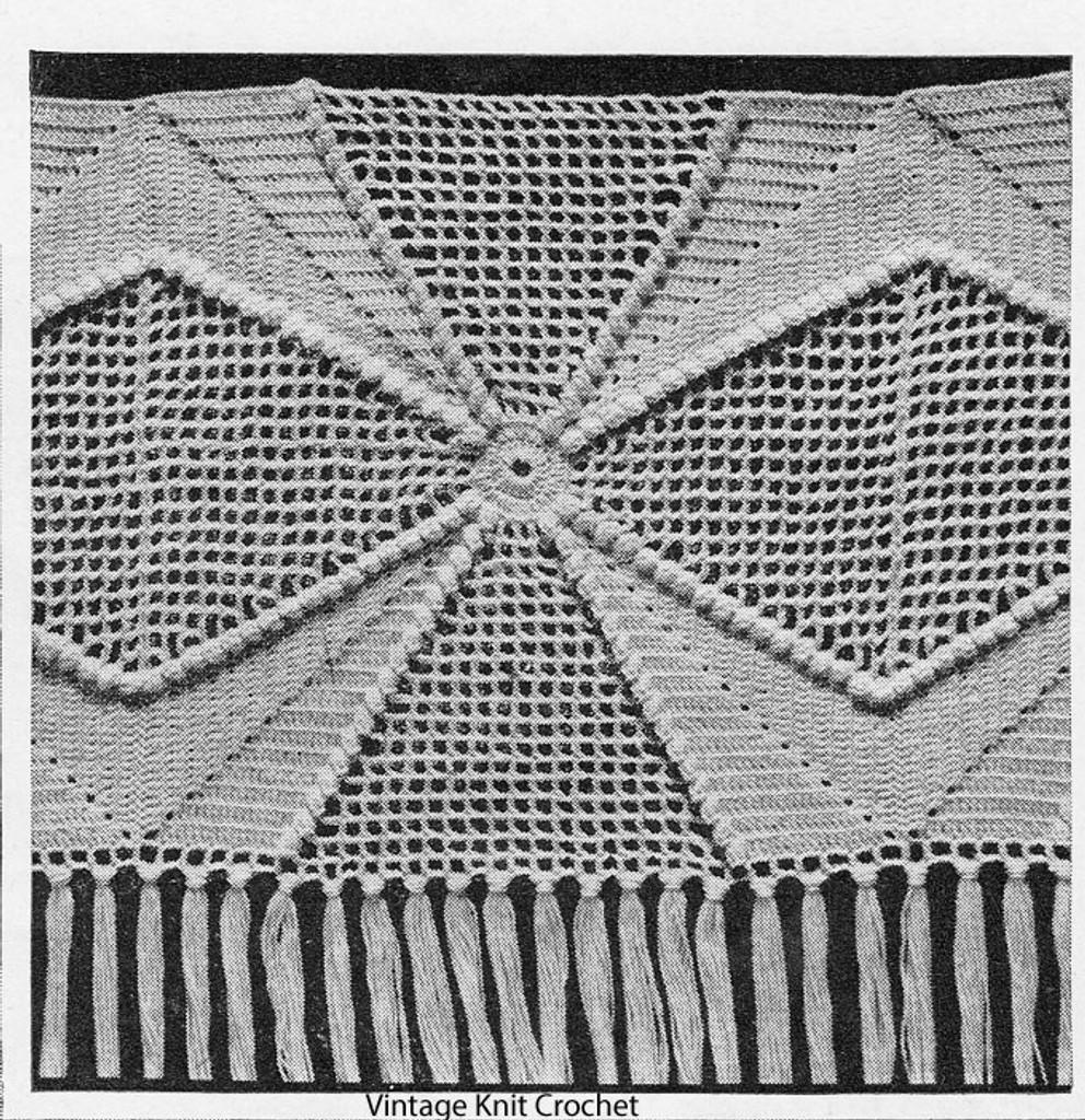 Popcorn Star Crochet Square Pattern, for Bedspread No 661
