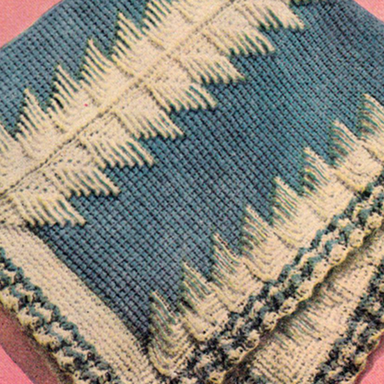 Blue Crochet Baby Blanket Pattern