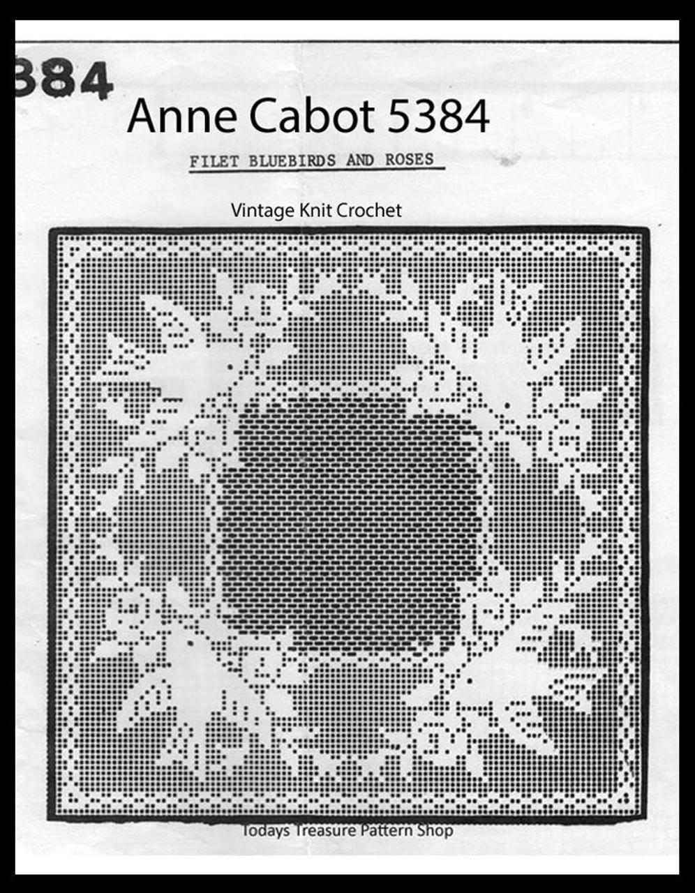 Bluebird Filet Crochet Pattern, Doily or Pillow Pattern