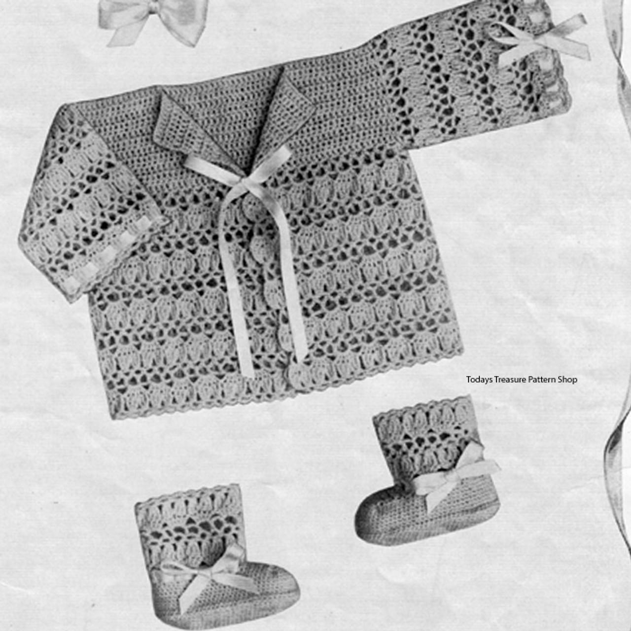 Vintage Baby Jacket Crochet Pattern