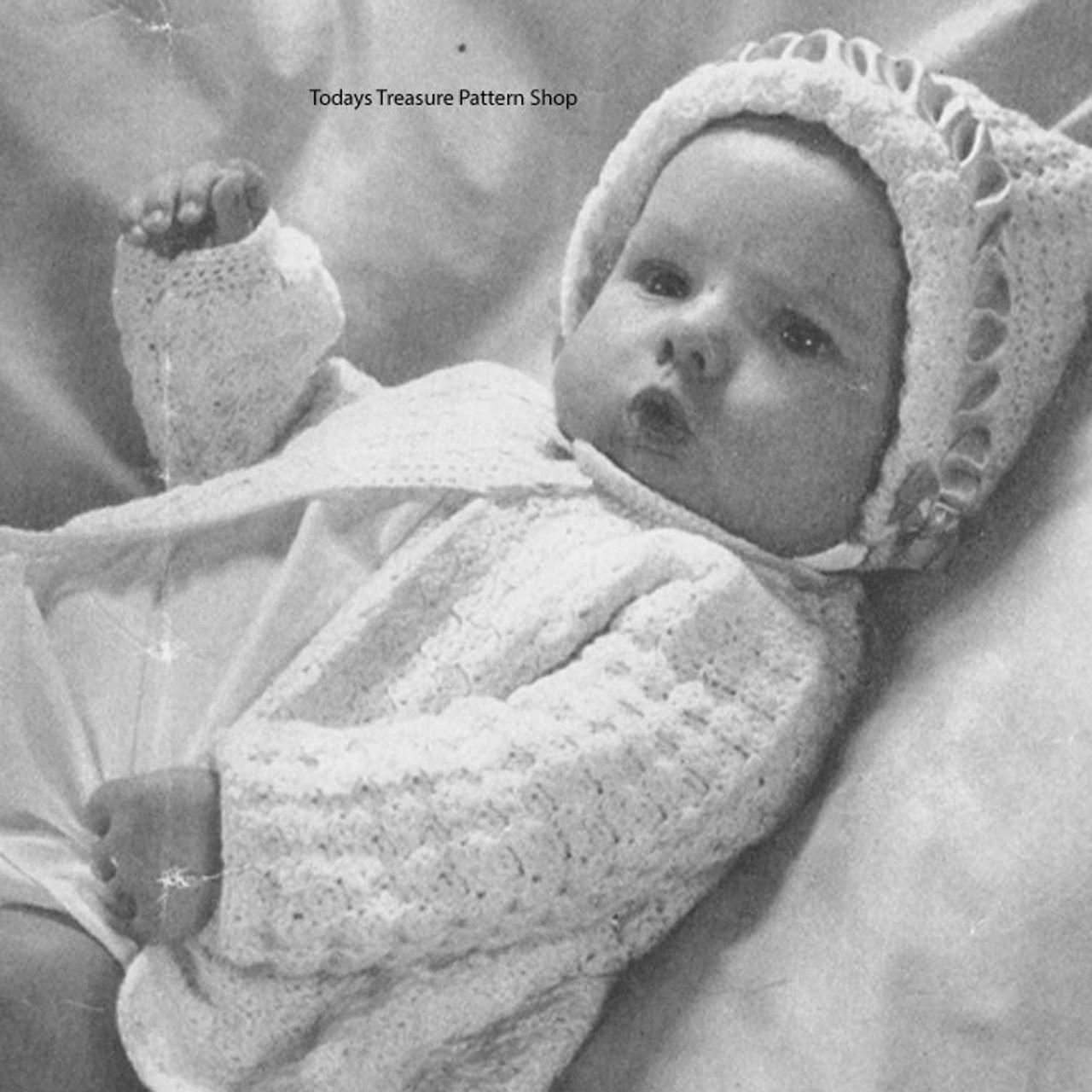 Crochet Baby Jacket Pattern in Shell Stitch