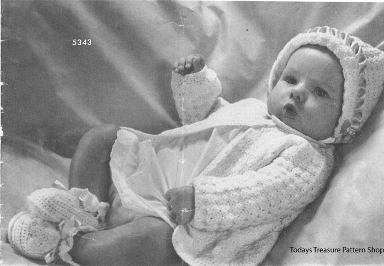 Vintage Shell Baby Layette Crochet Pattern