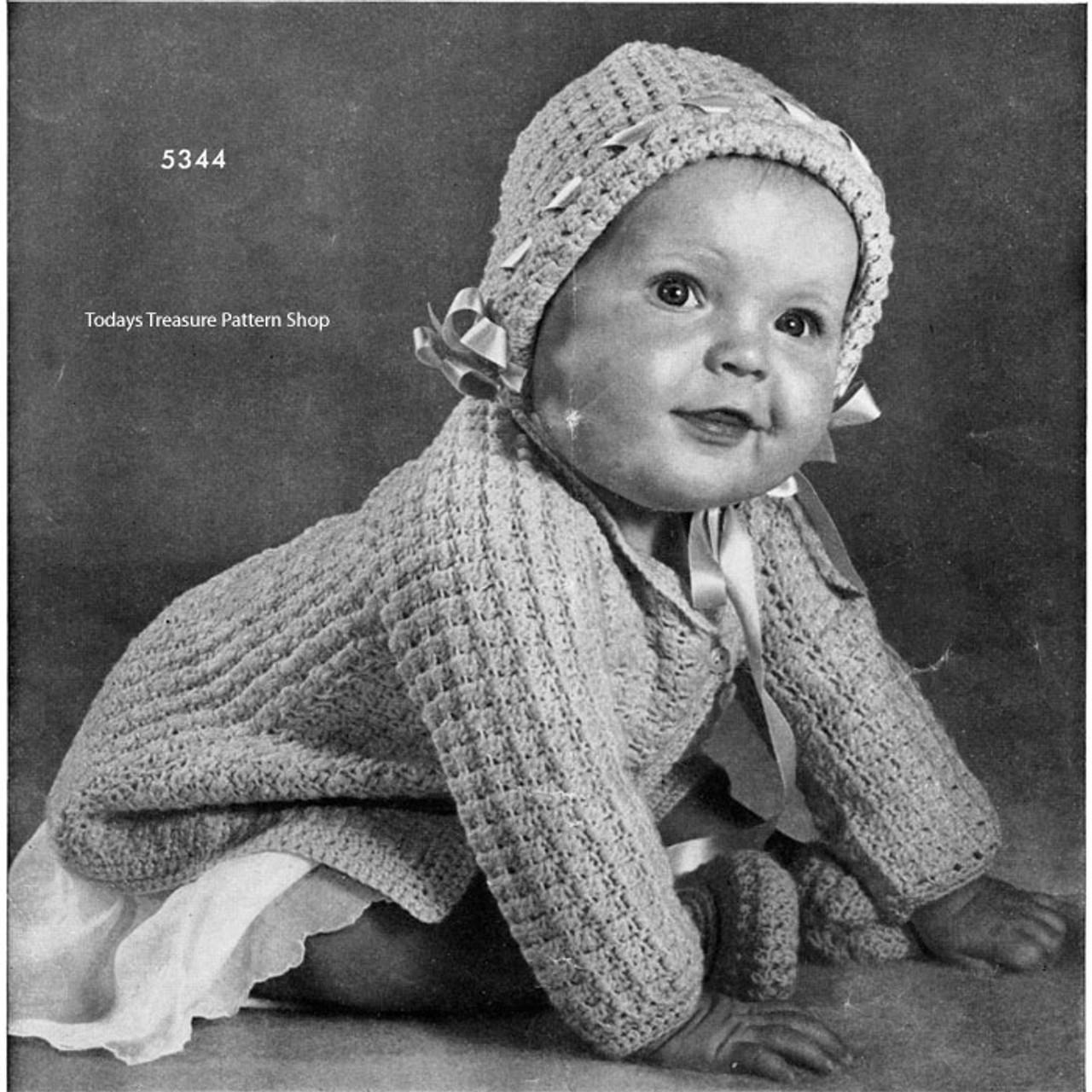 Cute Crochet Baby Jacket Hat Pattern