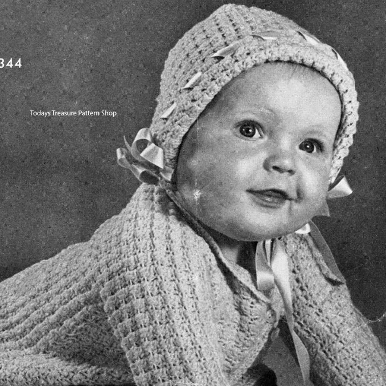 Waffled Baby Set Crochet Pattern