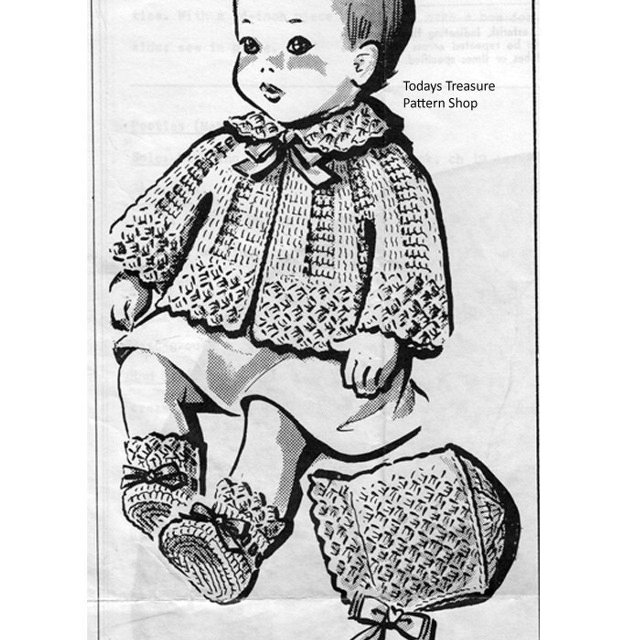 Mail Order Design 5877, Crocheted Baby Jacket