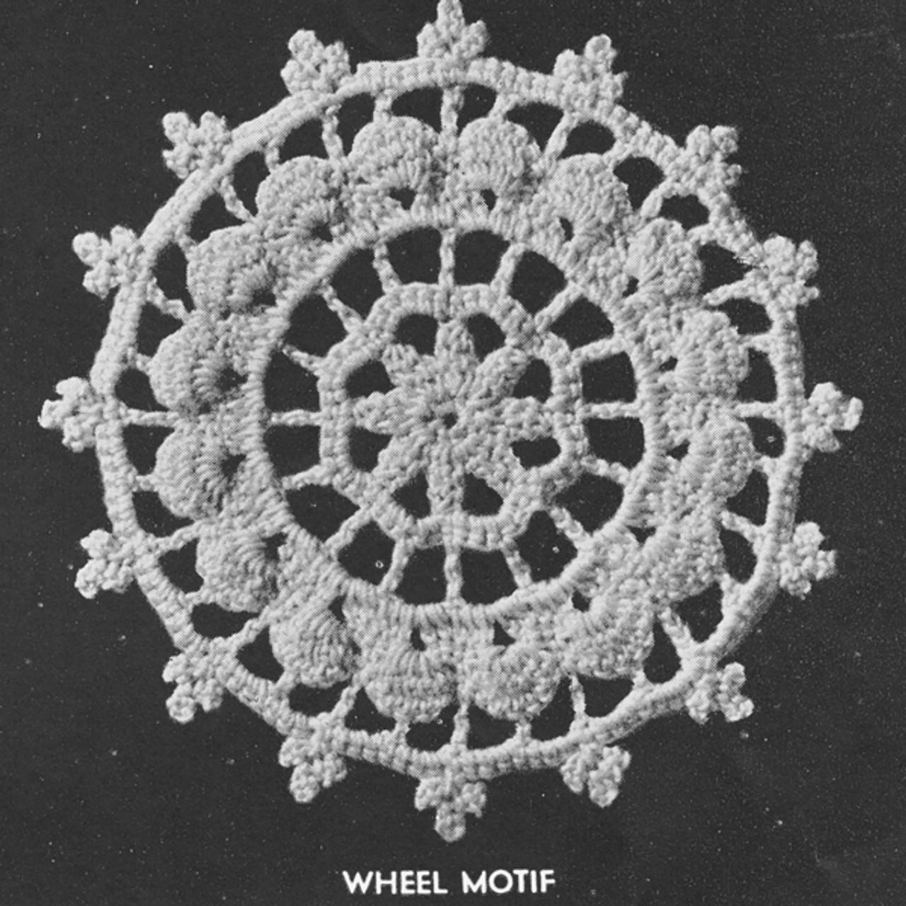 Cluny Wheel Crochet Motif