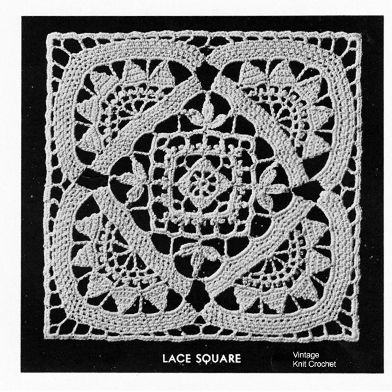 Crochet Flower Leaf Square Pattern for Bedspread