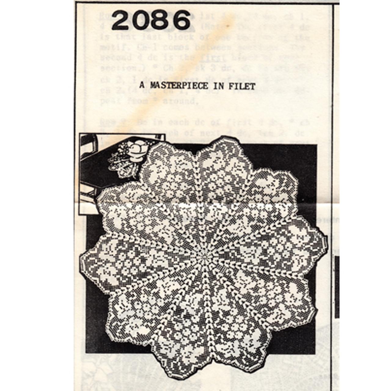 Anne Cabot 2086 Grape Filet Crochet Doily Pattern