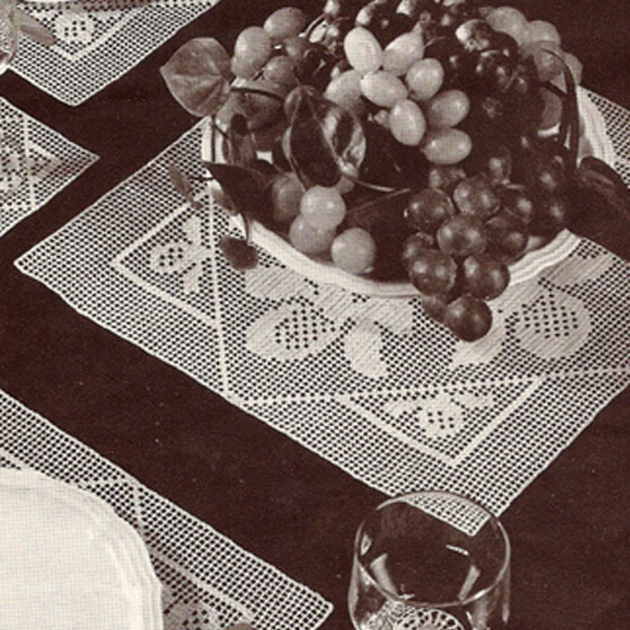 Vintage El Dorado Mats Pattern in Filet Crochet