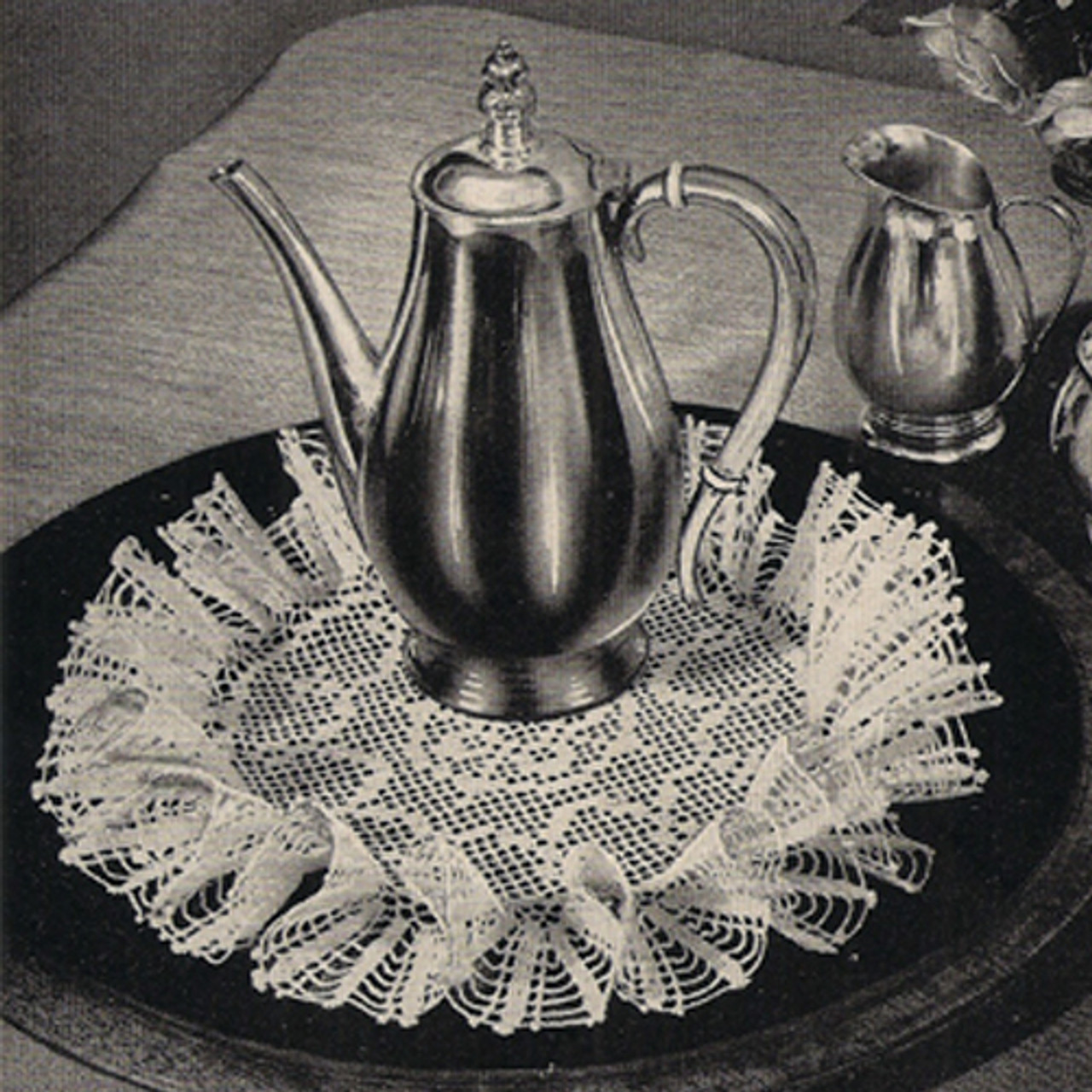 Filet Crochet Ruffled Doily pattern