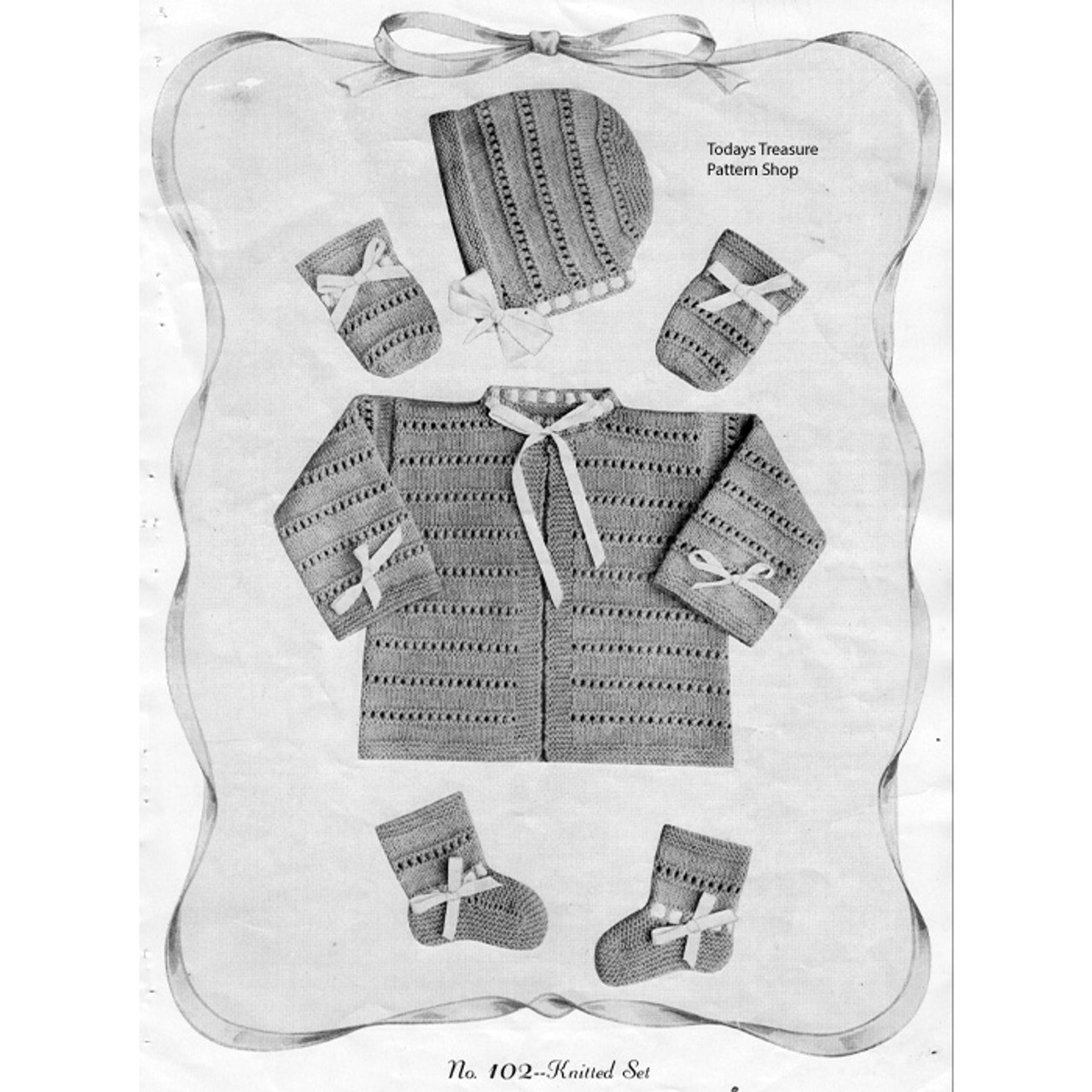 Boys Knitted Baby Layette Pattern Set