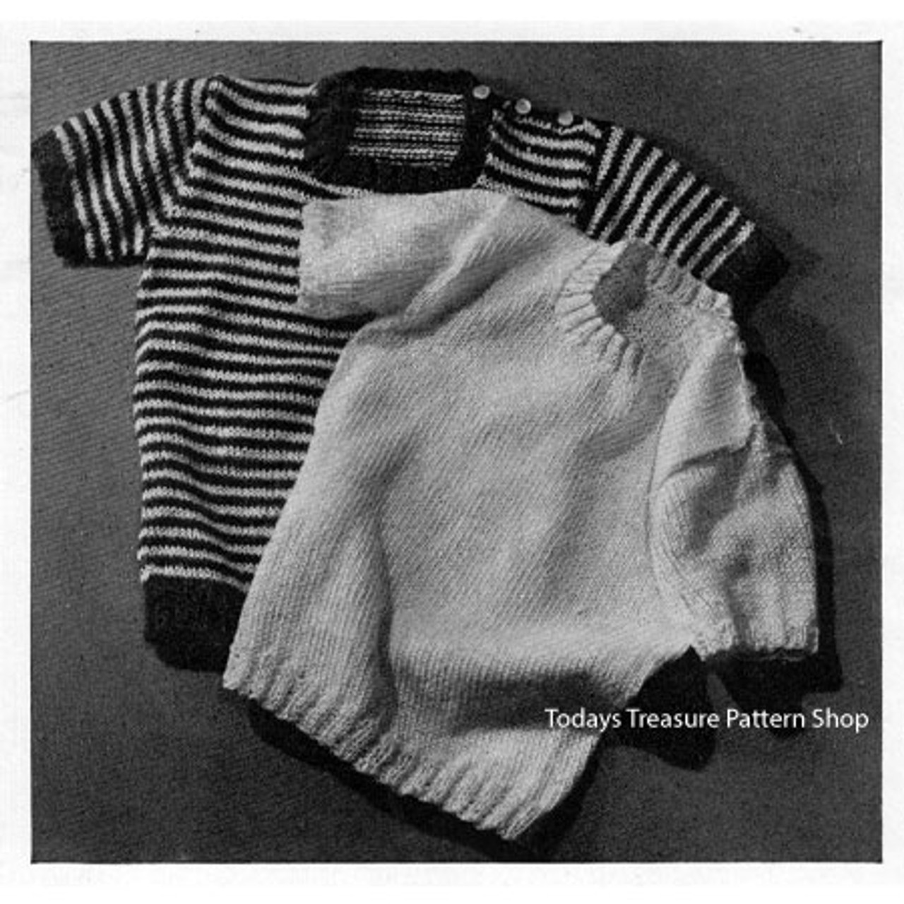Toddler Striped Knitted Pullover Pattern