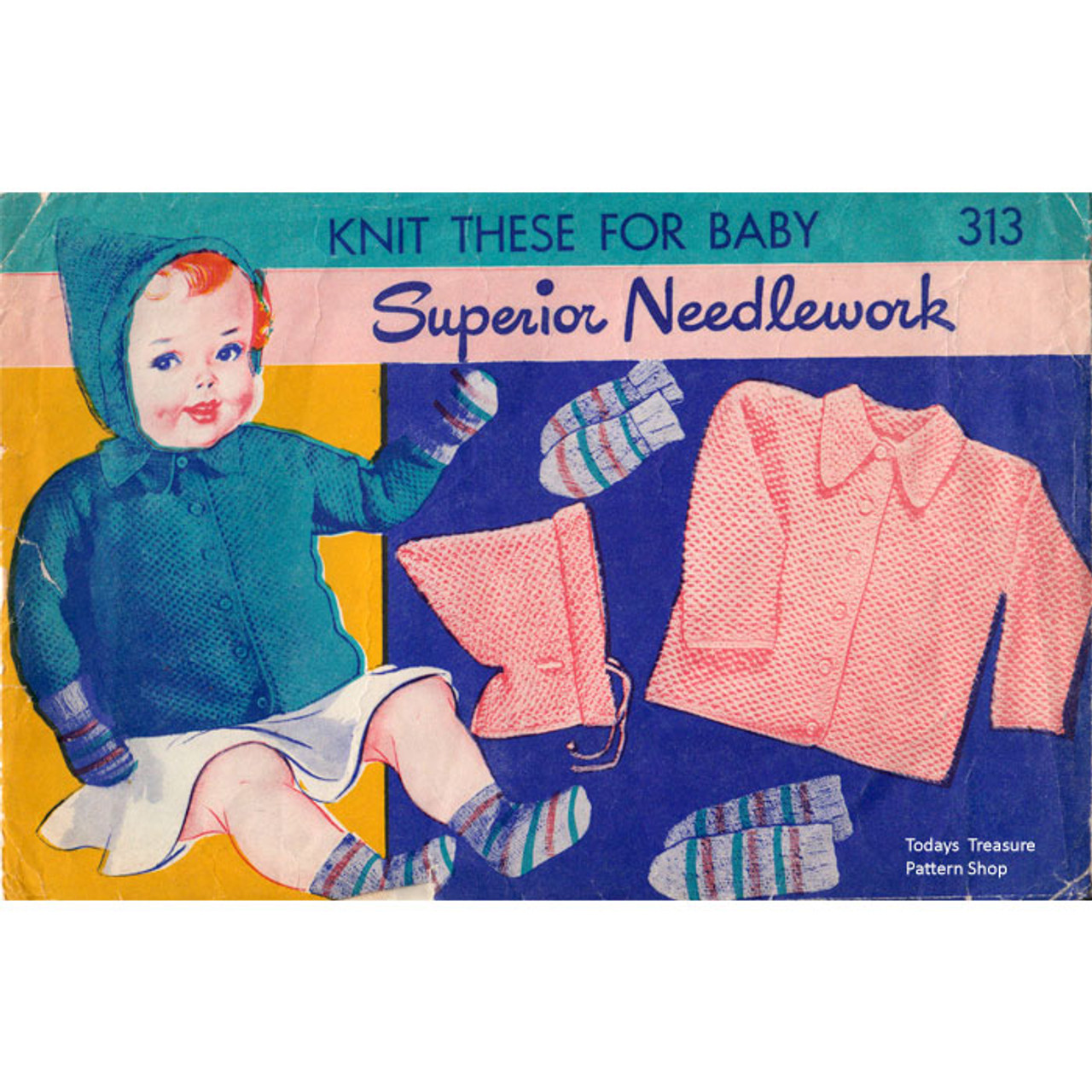 Superior Needlework Knitted Baby Set Pattern