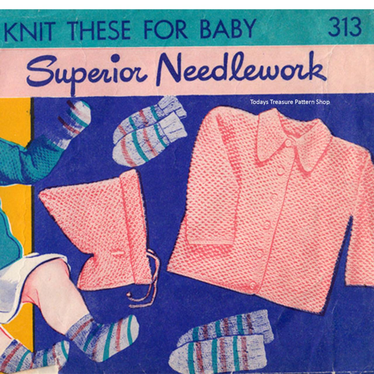 Jacket Knitted Jacket & Cap Pattern Superior 313