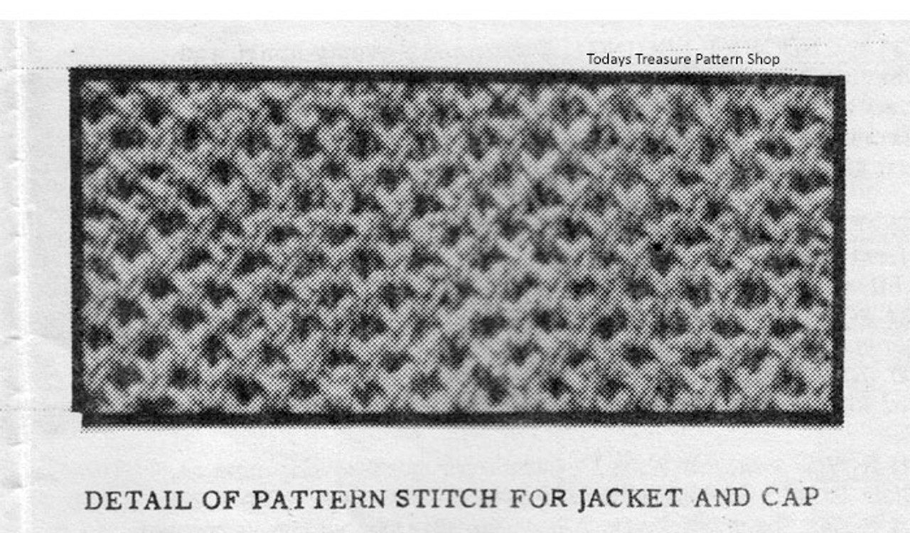 Knitted Baby Jacket Pattern Stitch