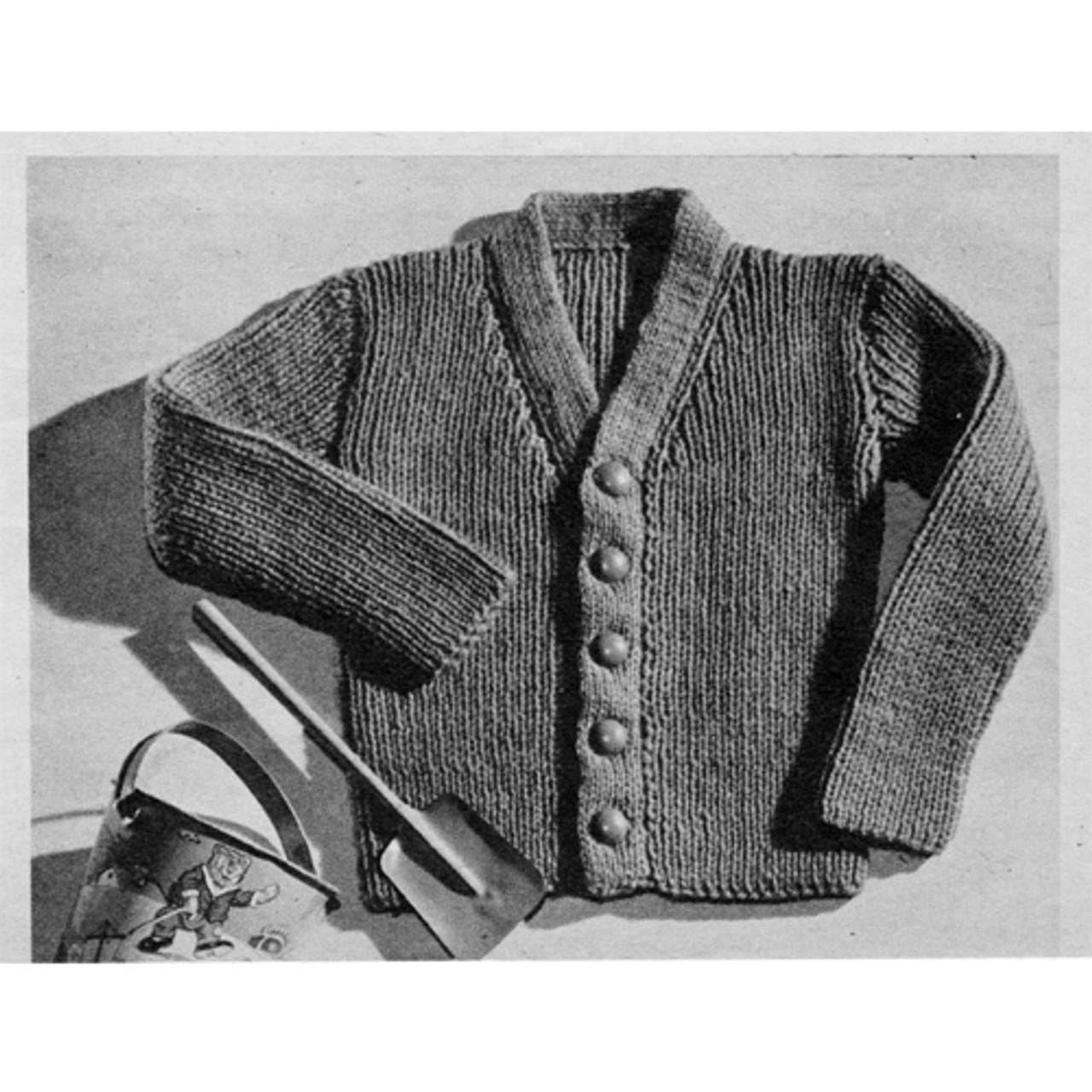 Baby Knitted Rib Cardigan Pattern