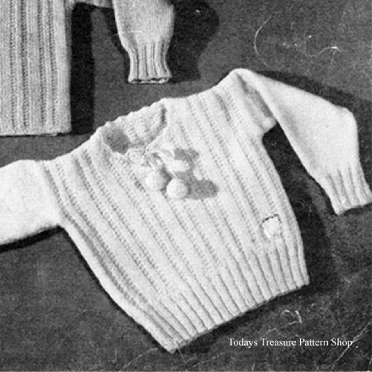 Baby Knitted Pullover Pattern