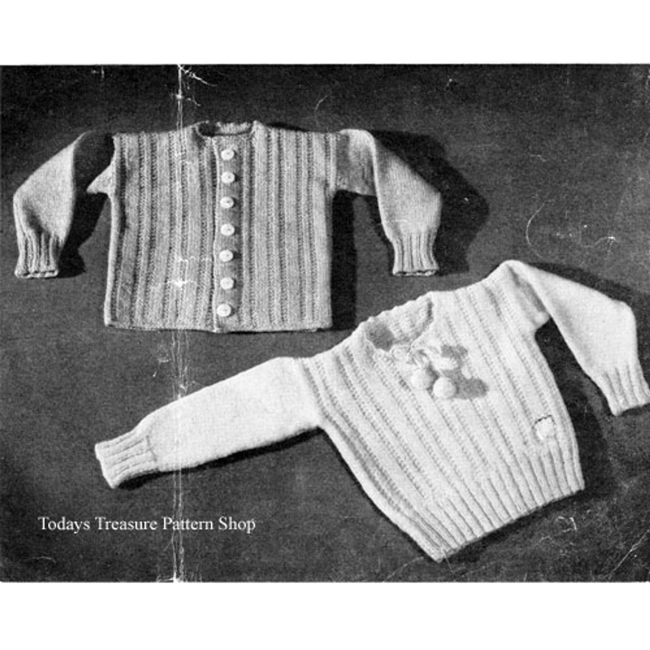 Knitting Pattern Baby Jacket & Pullover Pattern