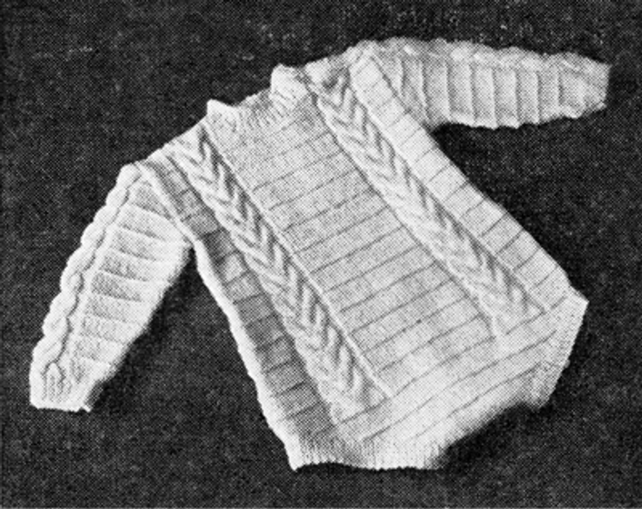 Baby Long Sleeve Romper Knitting Pattern in Cable Stitch