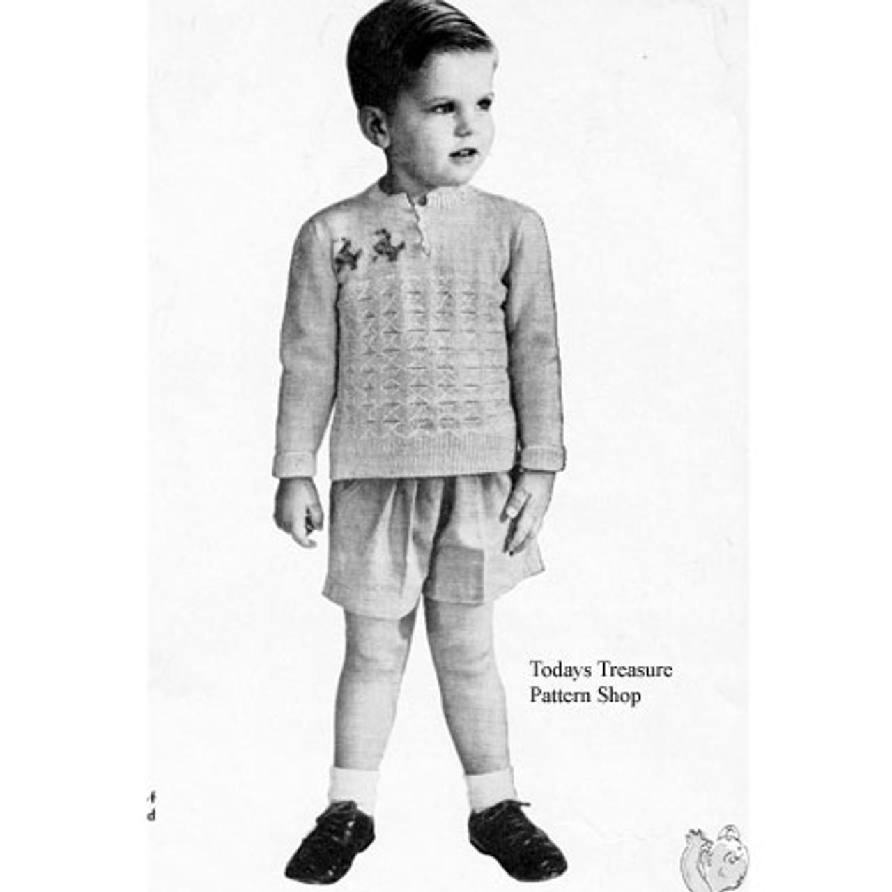 Toddler Pullover Sweater Knitting Pattern