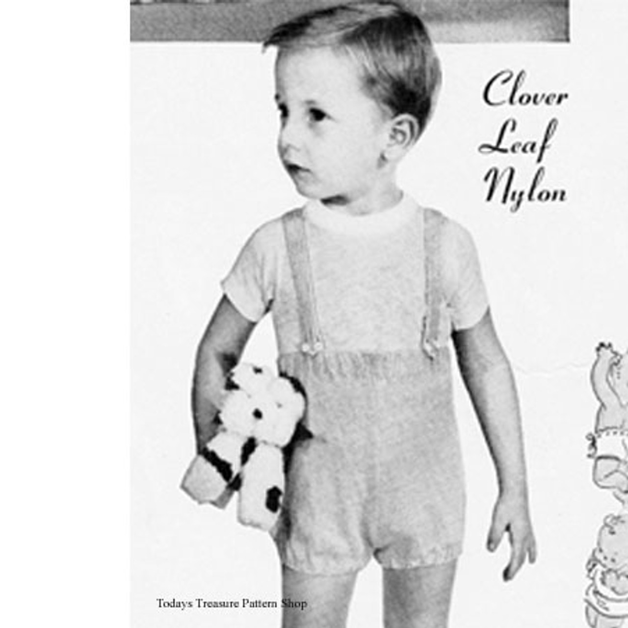 Childs Knitted Suspender Pants Pattern