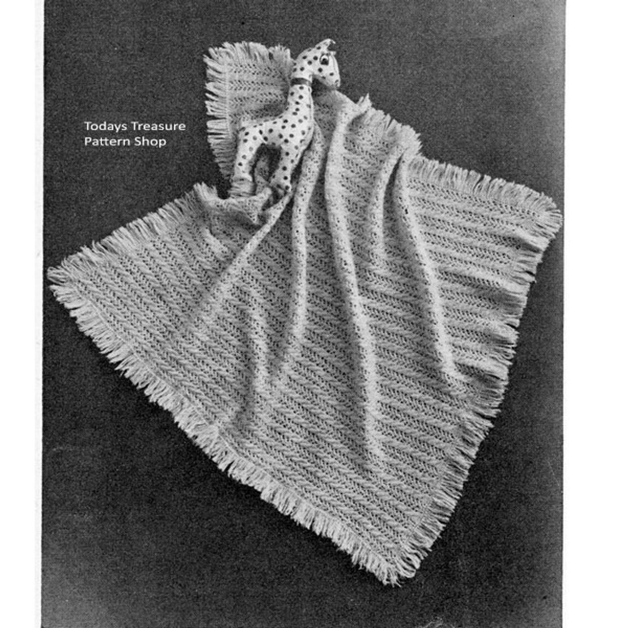 Vintage Knit Baby Blanket Pattern