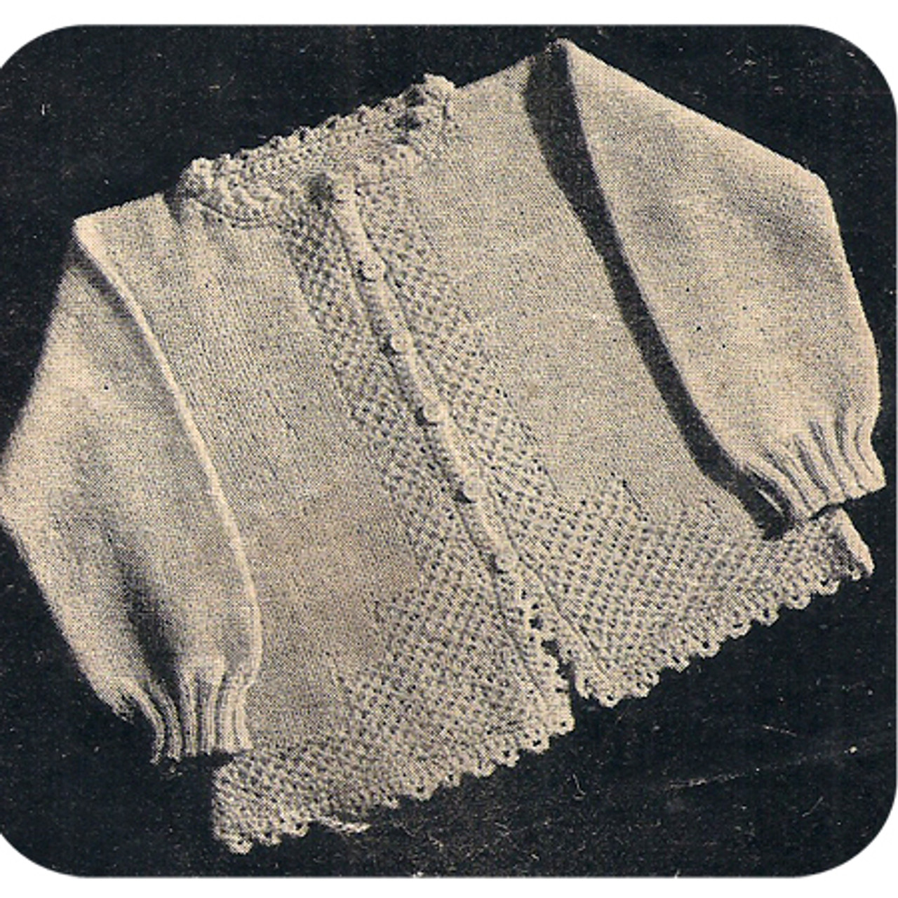 Baby Knitted Cardigan Pattern Vintage Workbasket