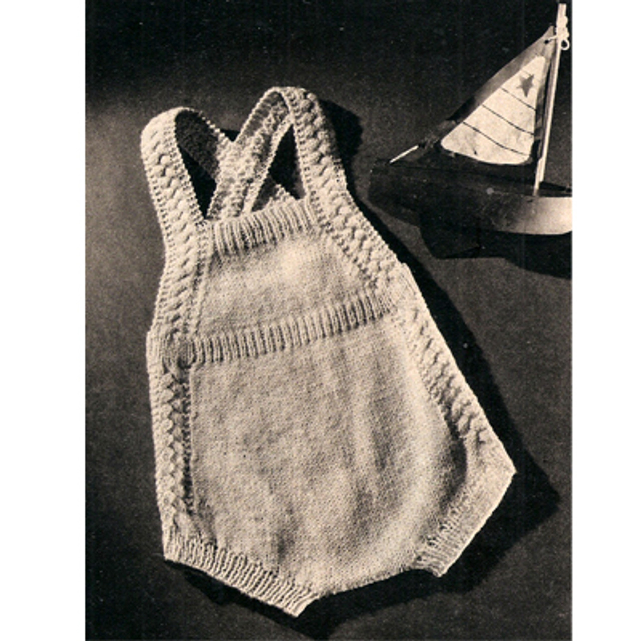 Vintage Knitted Baby Rompers Pattern