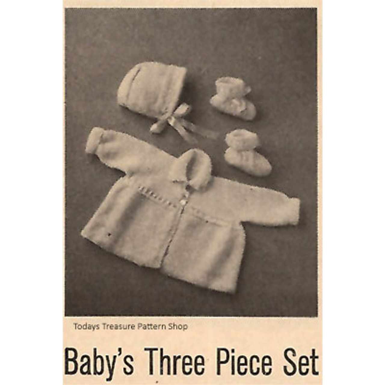 Baby's Three Piece Set Knitting Pattern