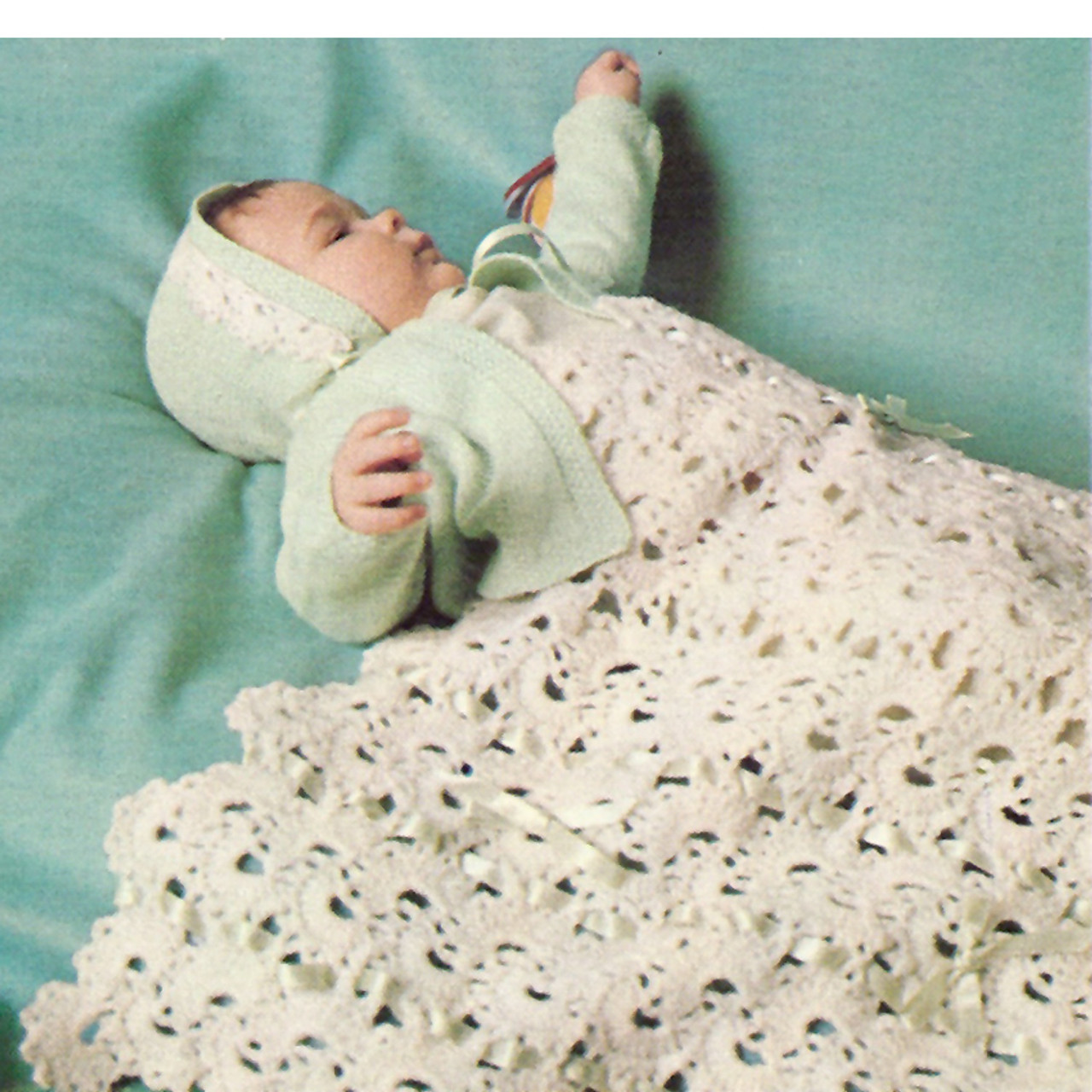 Queen Anne Lace Knitted Baby Blanket Pattern