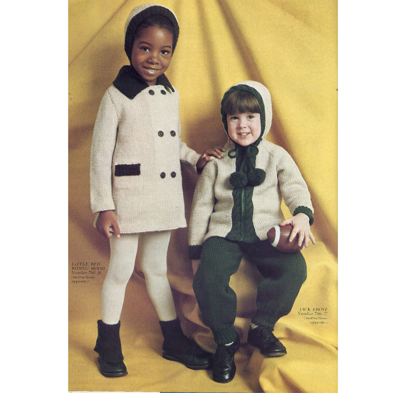 Childs Jacket & Coat Knitting Pattern from Columbia Minerva