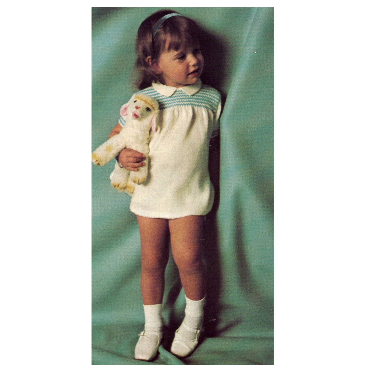 Knitting Pattern Childs Smocked Dress from Columbia Minerva