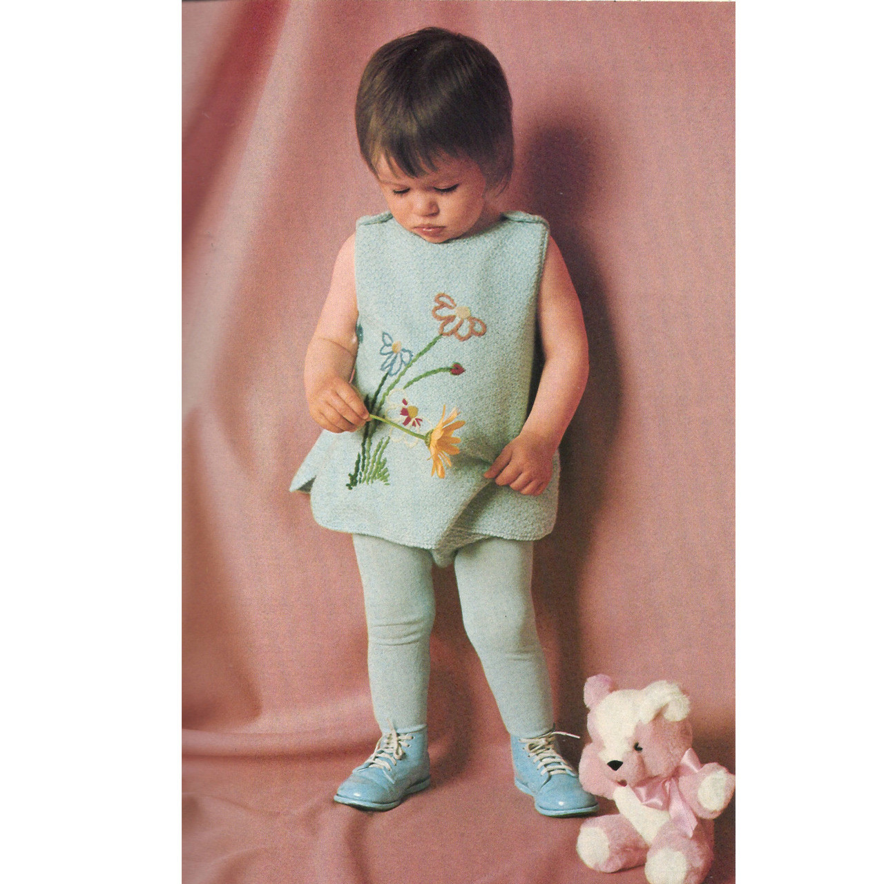 Knitting Pattern Baby Dress with Leggings
