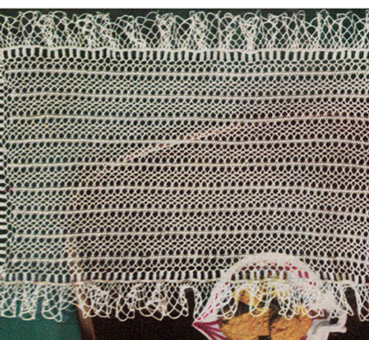 Vintage Hairpin Lace Mat Pattern from Coats & Clark
