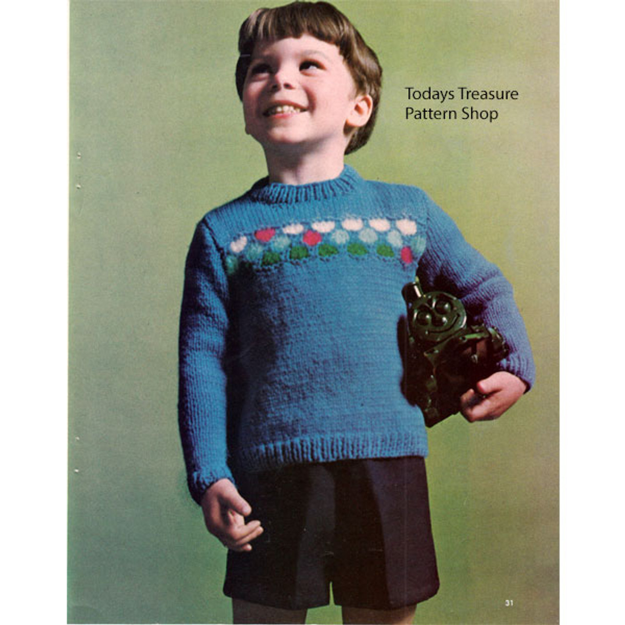 Easy Knitting Pattern for Boys Cardigan